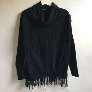 Black Sweater with Fringe